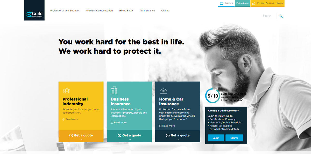 Guild Insurance Homepage - Better through experience